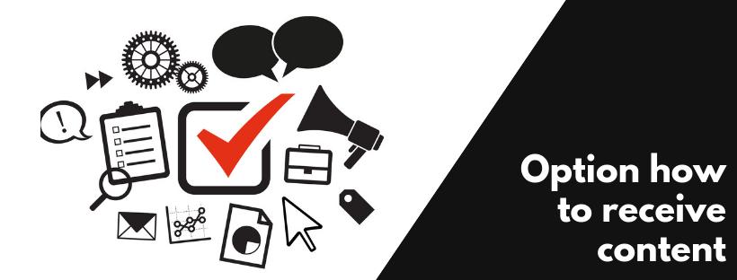 Option how to receive content   Digital Marketing Services Banashankari