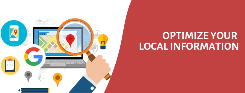 OPTIMIZE YOUR LOCAL INFORMATION | Best Digital Marketing Consultancy in Bangalore